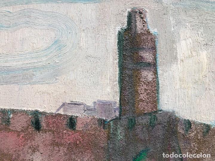 Arte: Manuel Capdevila Massana (1910-2006) - Muralla Jerusalen - Óleo lienzo - Foto 5 - 208408702