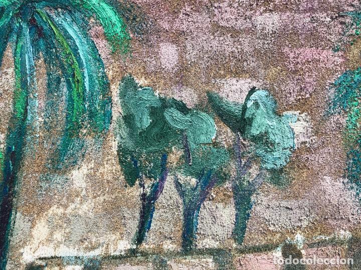 Arte: Manuel Capdevila Massana (1910-2006) - Muralla Jerusalen - Óleo lienzo - Foto 6 - 208408702