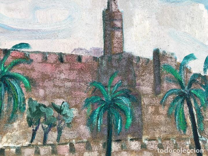 Arte: Manuel Capdevila Massana (1910-2006) - Muralla Jerusalen - Óleo lienzo - Foto 7 - 208408702