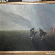 Arte: ÓLEO SOBRE TELA ANTIGUO - FIRMADO - ENMARCADO 107 X 82. Lote 208437605
