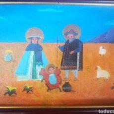Arte: ESCUELA CUBANA ÓLEO SOBRE TABLA ESTILO NAIF FIRMADO 25X18 ENMARCADO. Lote 208563015