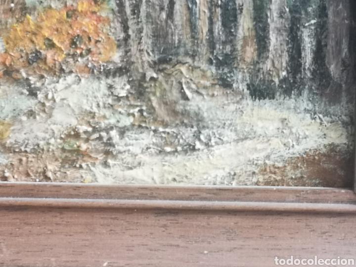 Arte: Paisaje impresionista escuela holandesa o belga 23x20cm enmarcado - Foto 3 - 208564381