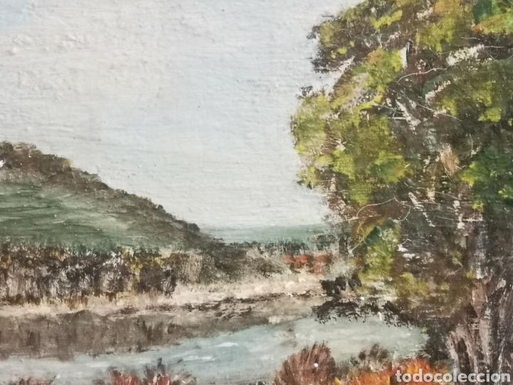 Arte: Paisaje impresionista escuela holandesa o belga 23x20cm enmarcado - Foto 4 - 208564381
