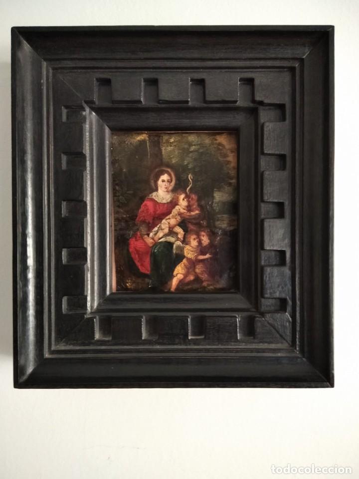 PINTURA ESPAÑOLA. ÓLEO SOBRE COBRE. SS.XVII-XVIII. (Arte - Pintura - Pintura al Óleo Antigua siglo XVII)