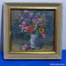 Arte: ÓLEO DE ANTONIA FERRERAS I BERTRAN (LLEIDA 1873-1935).BODEGON DE FLORES.. Lote 208791365