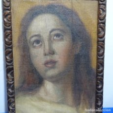 Arte: ÓLEO SOBRE TELA PEGADO A TABLA ANONIMO DE ESCUELA SEVILLANA DEL S.XIX.. Lote 208793350