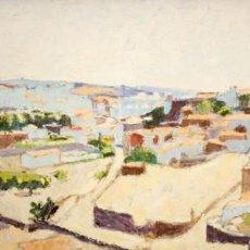Arte: JOSEP ROCA SASTRE (TERRASSA 1928 - BARCELONA 1997) OLEO TELA. VISTA DE CADAQUÉS (GIRONA) 70 X 150 CM. Lote 208814927