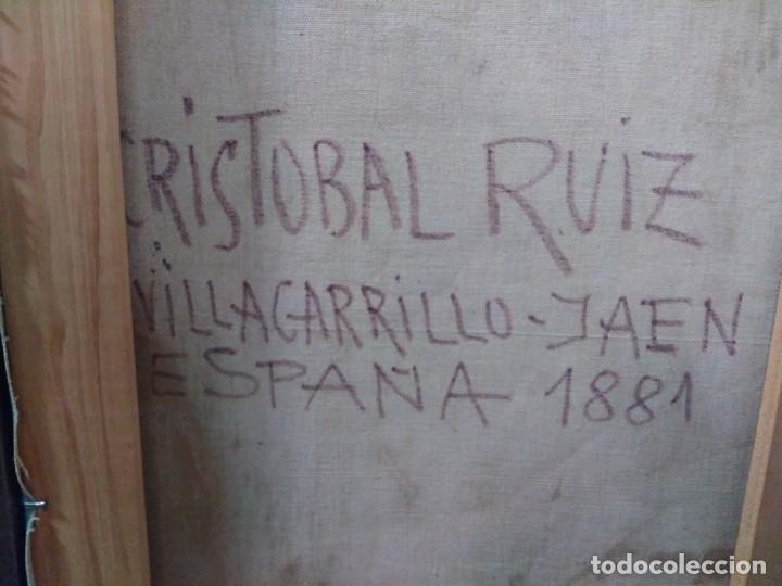Arte: CRISTÓBAL RUIZ (VILLACARRILLO, JAÉN, 1881-MÉXICO, 1962) DESNUDO EN FONDO AZUL - OBRA ORIGINAL - 1951 - Foto 6 - 208937087