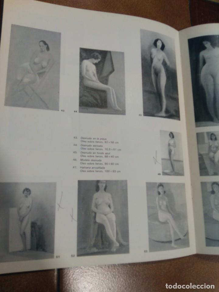 Arte: CRISTÓBAL RUIZ (VILLACARRILLO, JAÉN, 1881-MÉXICO, 1962) DESNUDO EN FONDO AZUL - OBRA ORIGINAL - 1951 - Foto 15 - 208937087