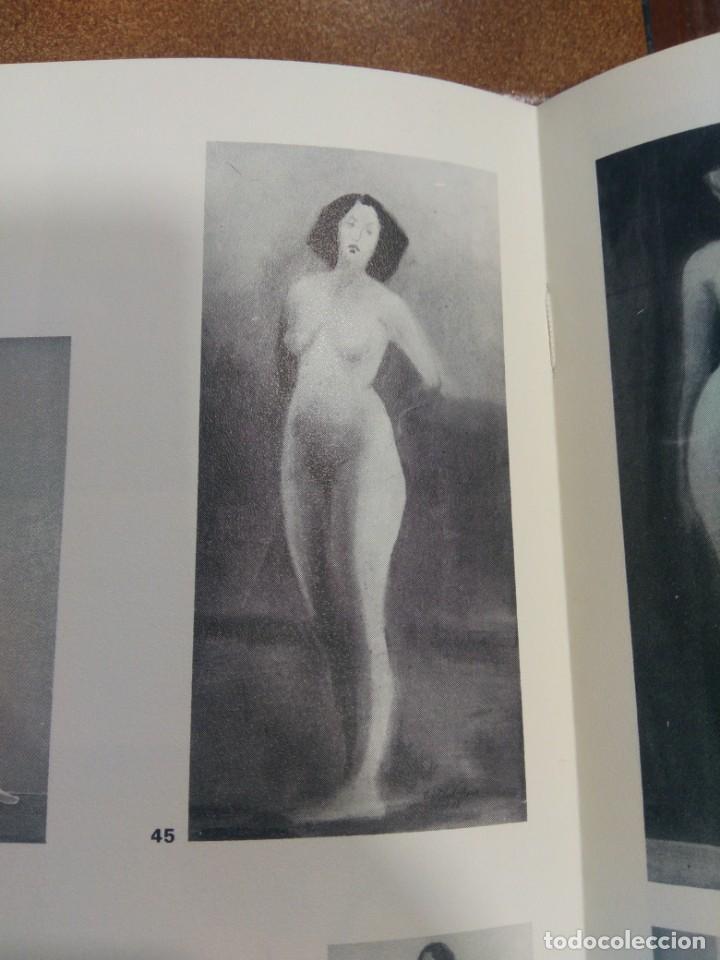 Arte: CRISTÓBAL RUIZ (VILLACARRILLO, JAÉN, 1881-MÉXICO, 1962) DESNUDO EN FONDO AZUL - OBRA ORIGINAL - 1951 - Foto 17 - 208937087