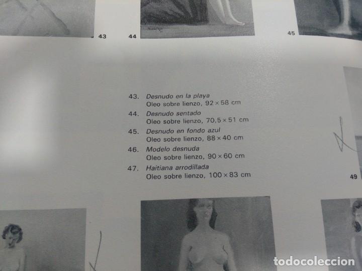 Arte: CRISTÓBAL RUIZ (VILLACARRILLO, JAÉN, 1881-MÉXICO, 1962) DESNUDO EN FONDO AZUL - OBRA ORIGINAL - 1951 - Foto 18 - 208937087