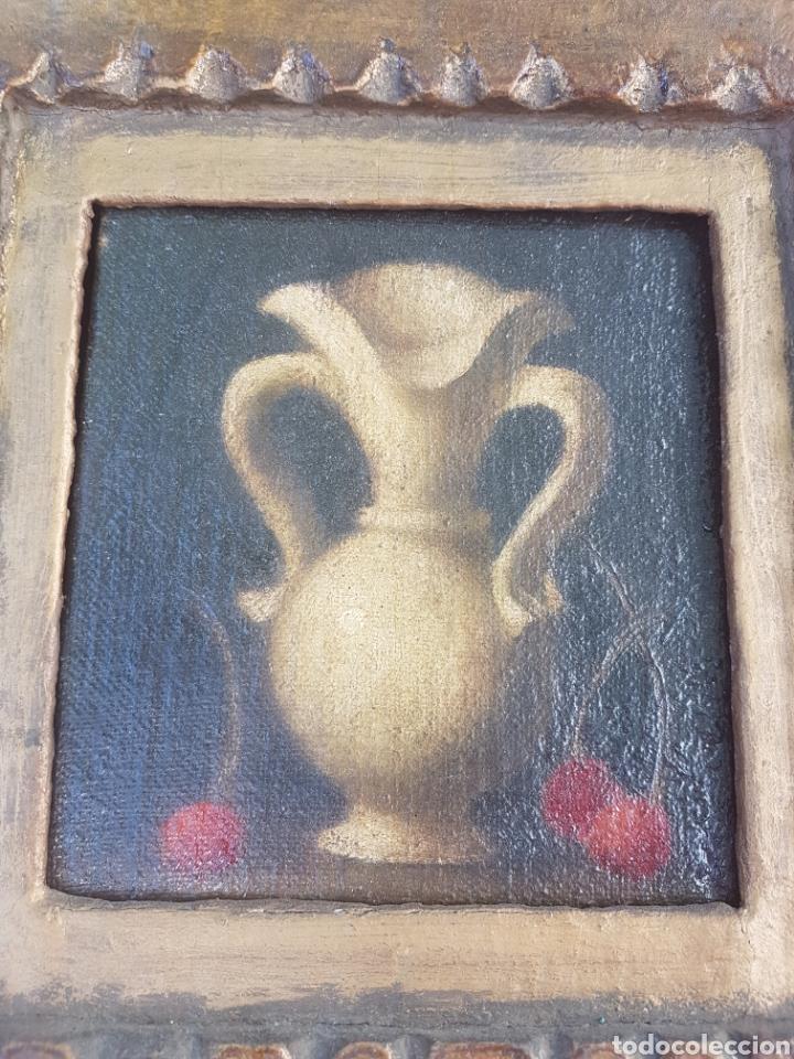 Arte: Antiguo óleo sobre lienzo y tablilla escuela sevillana - Foto 3 - 169812804
