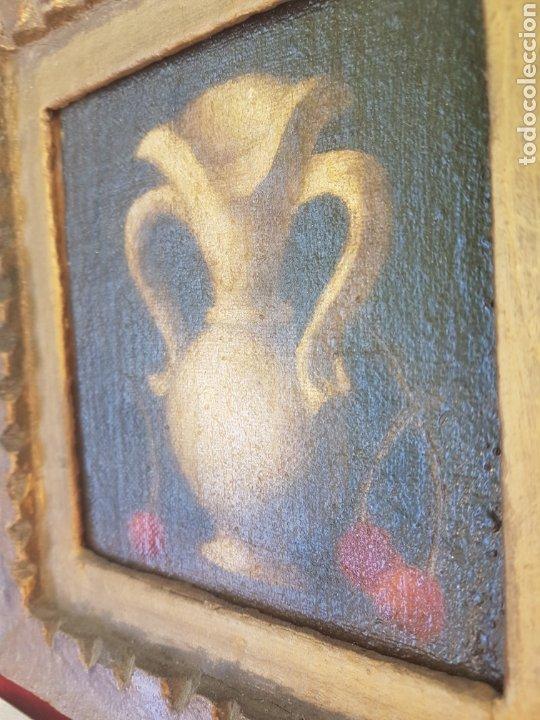 Arte: Antiguo óleo sobre lienzo y tablilla escuela sevillana - Foto 4 - 169812804