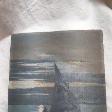 Arte: OLEO SOBRE TABLA VISTAS MARINAS FECHADO 1916 Y FIRMADO. Lote 209088792