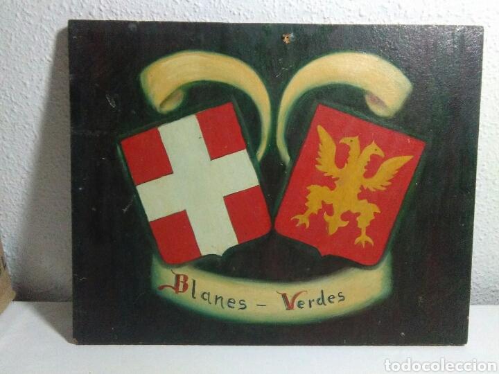 Arte: Pintura ole sobre tabla conglomerado heraldica - Foto 2 - 209092606