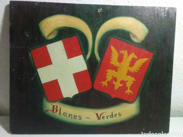 Arte: Pintura ole sobre tabla conglomerado heraldica - Foto 3 - 209092606