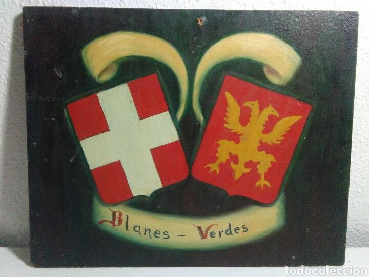 Arte: Pintura ole sobre tabla conglomerado heraldica - Foto 8 - 209092606