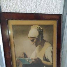 Arte: OBRA DE ARTE, ANTIGUA, PINTOR FERMÍN BAES, 1909.. Lote 209105368