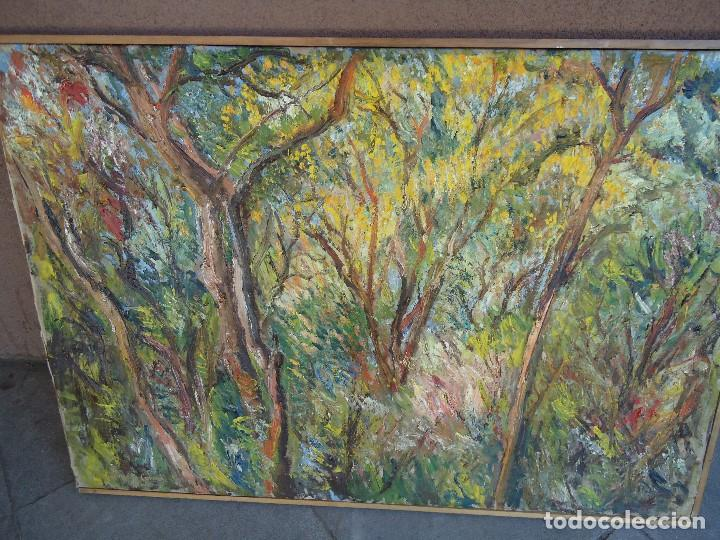 Arte: ORIGINAL Y BELLO LIENZO de IMELDO CORRAL Mide 100 x 68 cm. IMPRESIONANTE Ferrol 1889-1976 - Foto 2 - 209109310