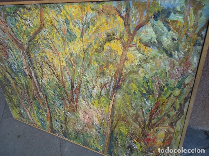 Arte: ORIGINAL Y BELLO LIENZO de IMELDO CORRAL Mide 100 x 68 cm. IMPRESIONANTE Ferrol 1889-1976 - Foto 3 - 209109310