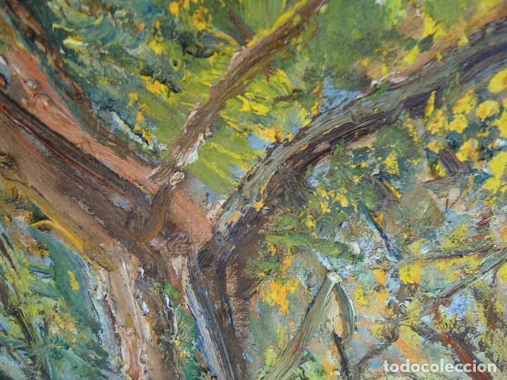 Arte: ORIGINAL Y BELLO LIENZO de IMELDO CORRAL Mide 100 x 68 cm. IMPRESIONANTE Ferrol 1889-1976 - Foto 5 - 209109310