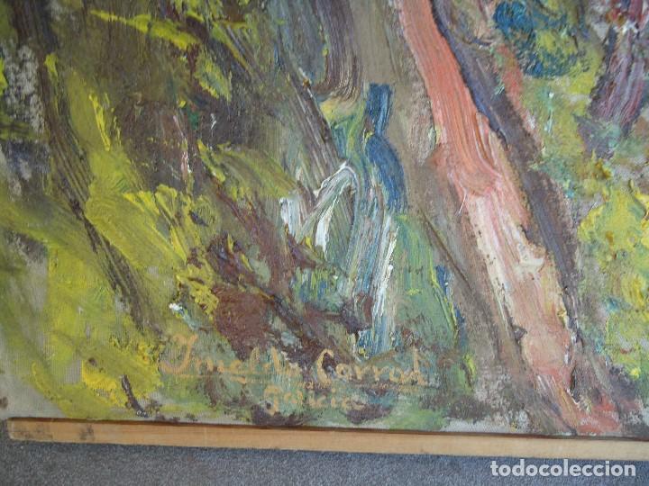 Arte: ORIGINAL Y BELLO LIENZO de IMELDO CORRAL Mide 100 x 68 cm. IMPRESIONANTE Ferrol 1889-1976 - Foto 6 - 209109310