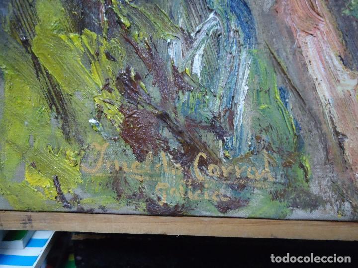 Arte: ORIGINAL Y BELLO LIENZO de IMELDO CORRAL Mide 100 x 68 cm. IMPRESIONANTE Ferrol 1889-1976 - Foto 12 - 209109310