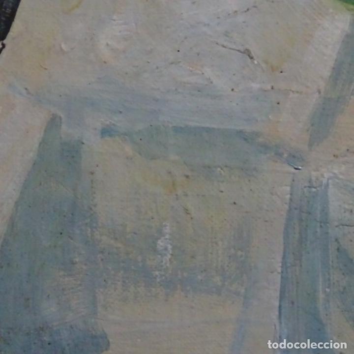 Arte: Excelente óleo reentelado del año 1960 con firma ilegible. - Foto 8 - 209215062