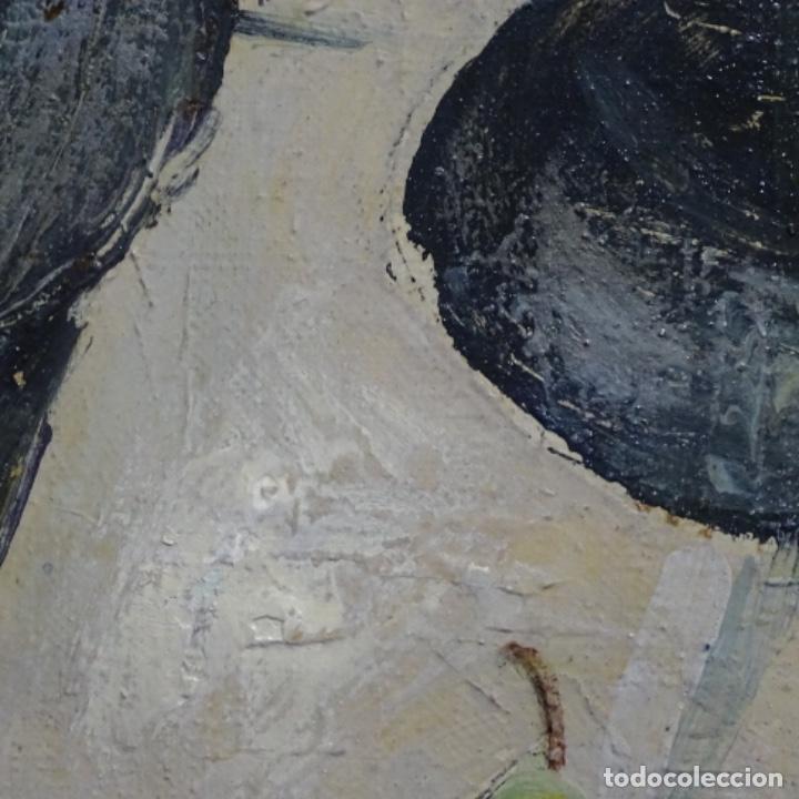 Arte: Excelente óleo reentelado del año 1960 con firma ilegible. - Foto 9 - 209215062