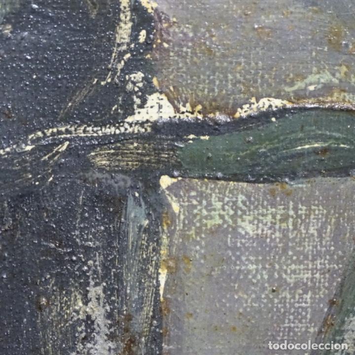 Arte: Excelente óleo reentelado del año 1960 con firma ilegible. - Foto 11 - 209215062