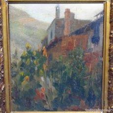 """Arte: MARAVILLOSO ÓLEO DE JOAQUIN MIR I TRINXET (BCN 1873-1940).GRAN COLORIDO.""""EL HUERTO"""".. Lote 209215983"""