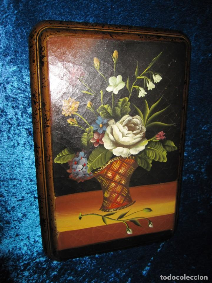 Arte: Óleo pintura sobre madera composición floral bodegón flores estilo barroco - Foto 8 - 209256340