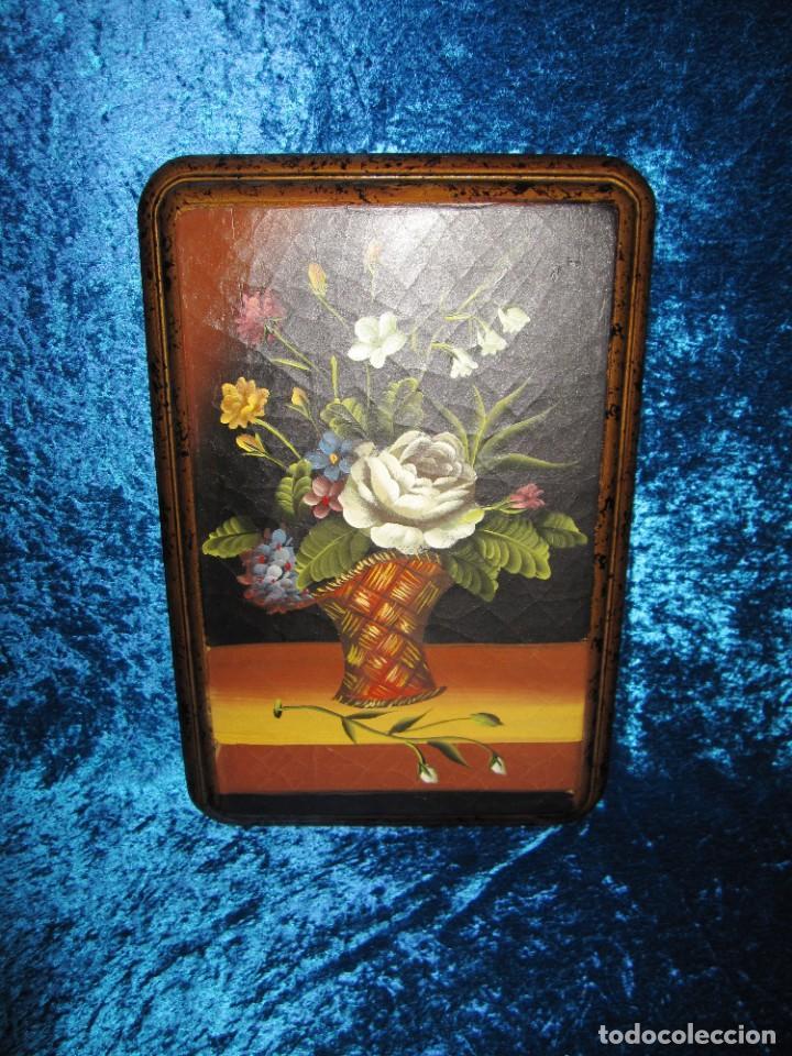 Arte: Óleo pintura sobre madera composición floral bodegón flores estilo barroco - Foto 11 - 209256340