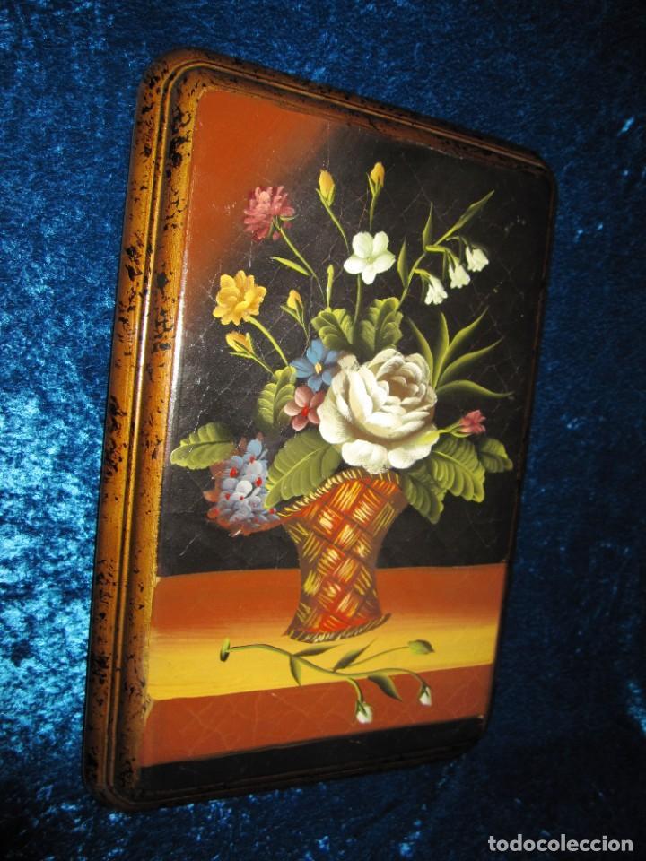 Arte: Óleo pintura sobre madera composición floral bodegón flores estilo barroco - Foto 12 - 209256340