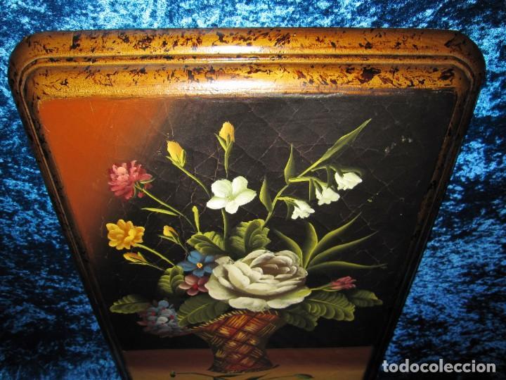 Arte: Óleo pintura sobre madera composición floral bodegón flores estilo barroco - Foto 17 - 209256340