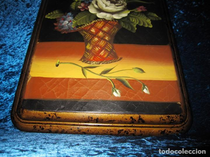 Arte: Óleo pintura sobre madera composición floral bodegón flores estilo barroco - Foto 18 - 209256340