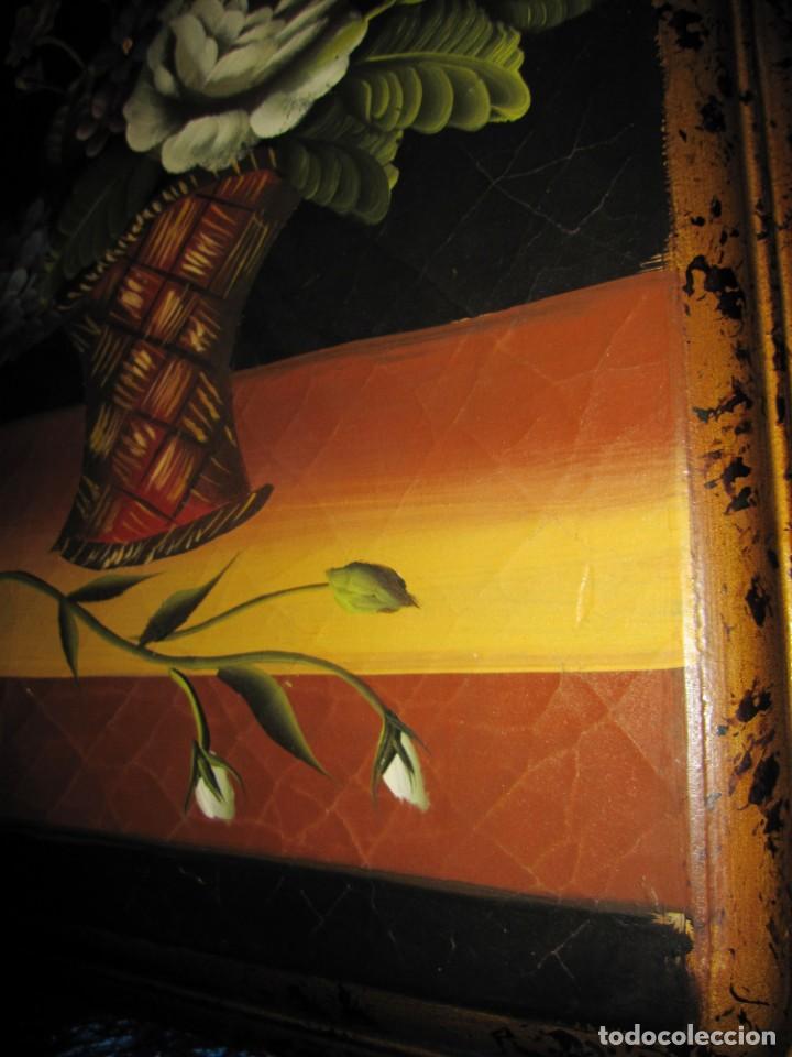 Arte: Óleo pintura sobre madera composición floral bodegón flores estilo barroco - Foto 20 - 209256340