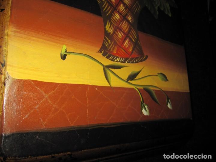 Arte: Óleo pintura sobre madera composición floral bodegón flores estilo barroco - Foto 21 - 209256340