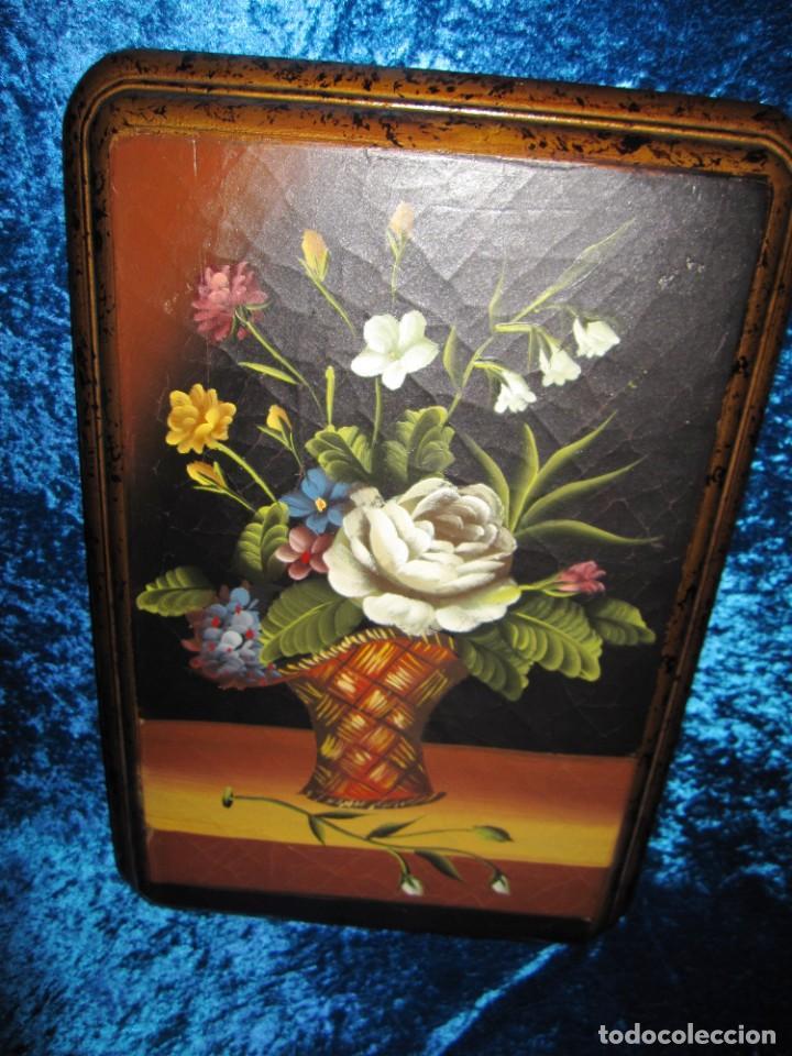 Arte: Óleo pintura sobre madera composición floral bodegón flores estilo barroco - Foto 26 - 209256340