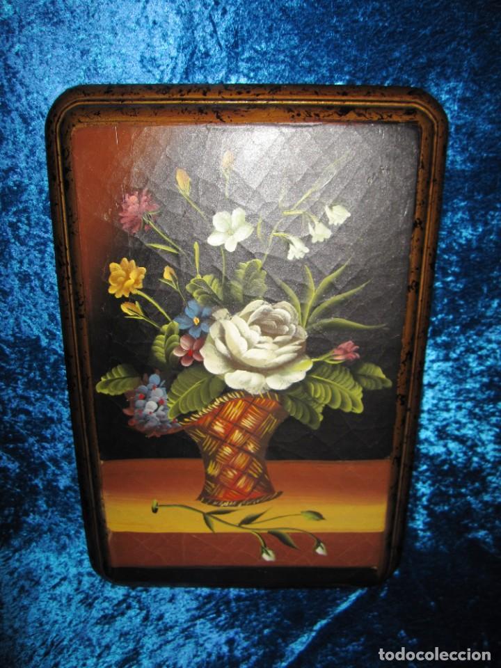 Arte: Óleo pintura sobre madera composición floral bodegón flores estilo barroco - Foto 27 - 209256340
