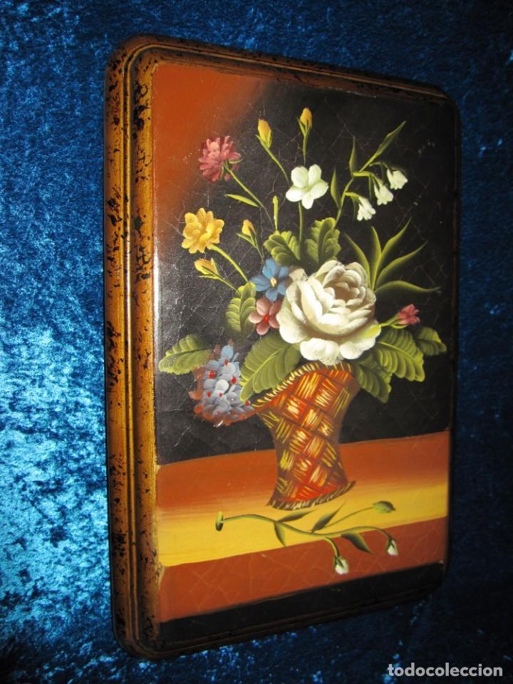 Arte: Óleo pintura sobre madera composición floral bodegón flores estilo barroco - Foto 28 - 209256340