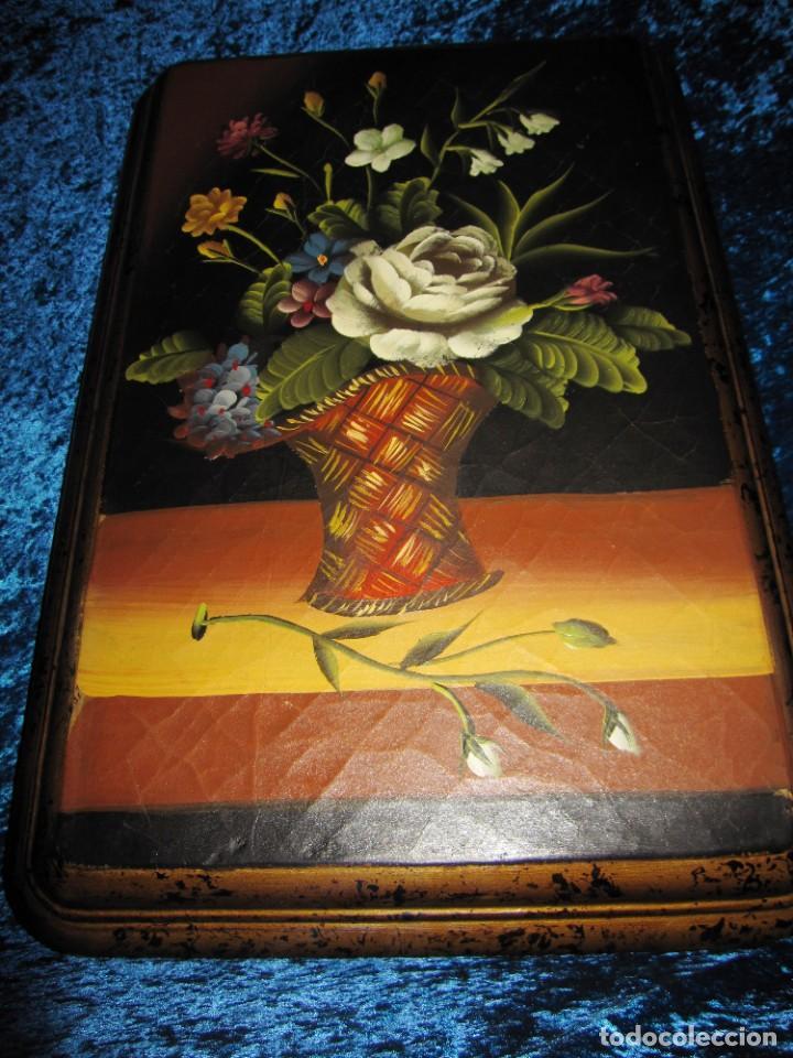 Arte: Óleo pintura sobre madera composición floral bodegón flores estilo barroco - Foto 31 - 209256340
