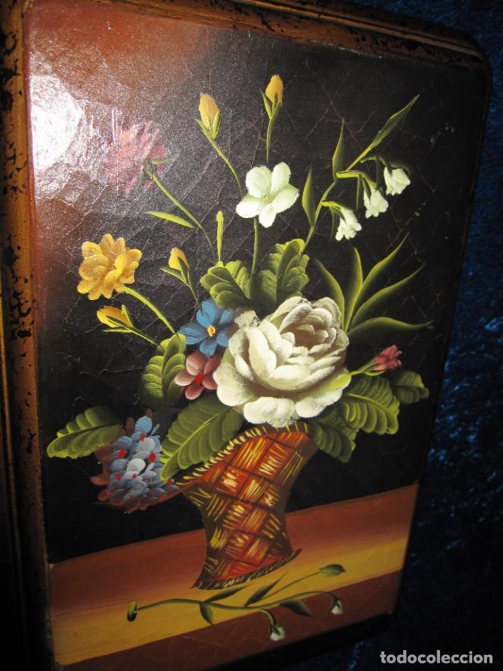 Arte: Óleo pintura sobre madera composición floral bodegón flores estilo barroco - Foto 37 - 209256340