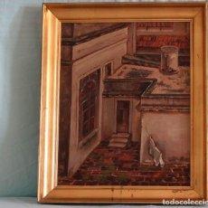 Arte: EL TEJADO, ÓLEO SOBRE TABLEX. THE ROOF, OIL ON TABLEX BOARD.. Lote 209340571