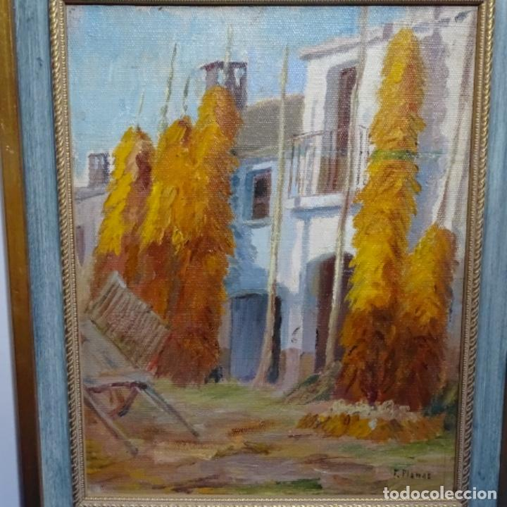 ÓLEO SOBRE TABLEX DE FRANCESC PLANAS DORIA (SABADELL 1879-1955). (Arte - Pintura - Pintura al Óleo Contemporánea )
