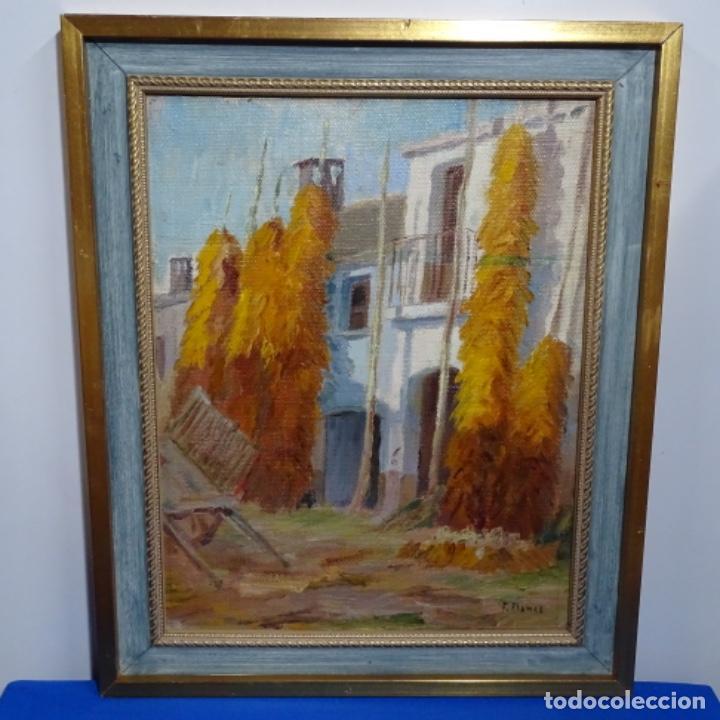 Arte: Óleo sobre tablex de Francesc planas doria (Sabadell 1879-1955). - Foto 2 - 209367582