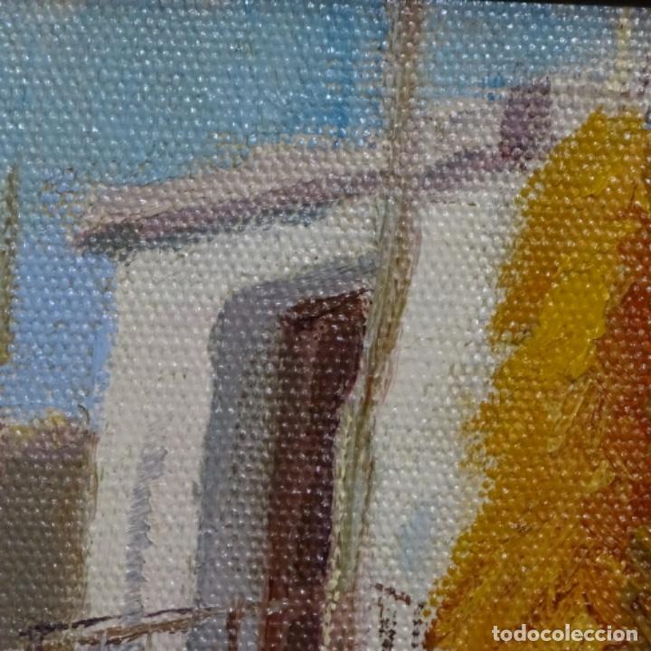 Arte: Óleo sobre tablex de Francesc planas doria (Sabadell 1879-1955). - Foto 10 - 209367582