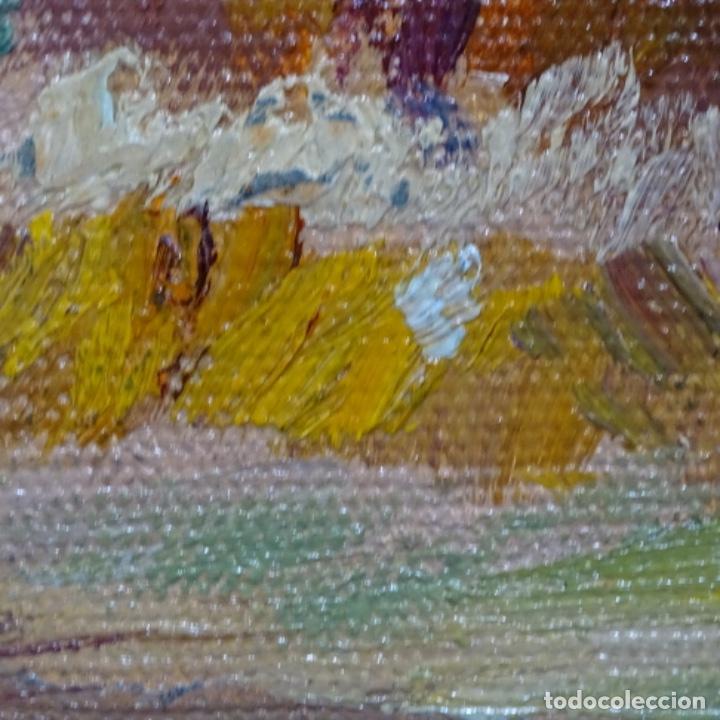 Arte: Óleo sobre tablex de Francesc planas doria (Sabadell 1879-1955). - Foto 16 - 209367582