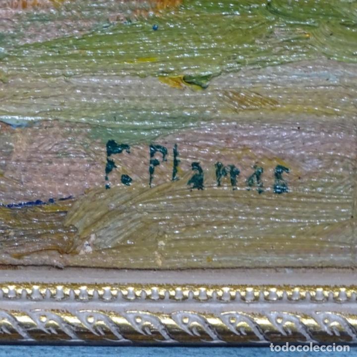 Arte: Óleo sobre tablex de Francesc planas doria (Sabadell 1879-1955). - Foto 17 - 209367582