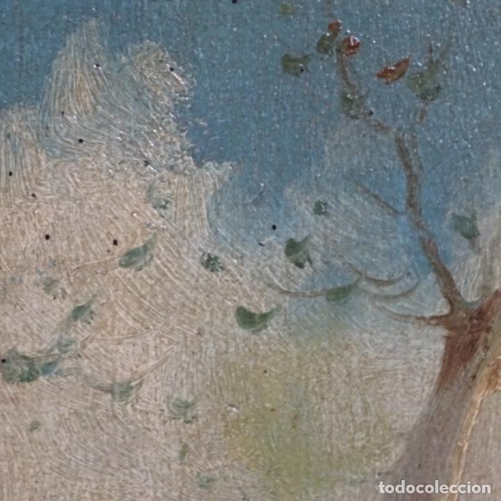 Arte: Óleo sobre cartón Ilegible escuela olotina, circulo vayreda.siglo xix. - Foto 7 - 209368265